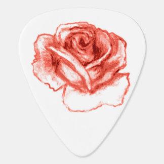 blaue Rose, Pfirsich-Rosen-Plektrum Gitarren-Pick