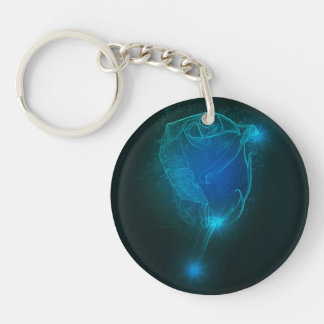 Blaue Rose Schlüsselanhänger