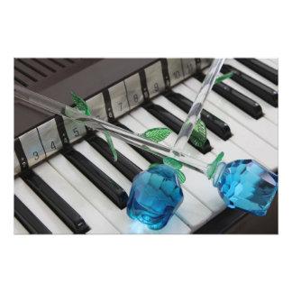 Blaue Rosen auf Organ Fotodrucke