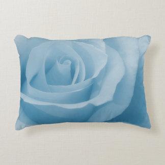 Blaue Rosen-Blüte Deko Kissen