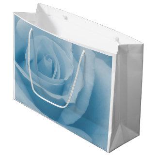 Blaue Rosen-Blüte Große Geschenktüte