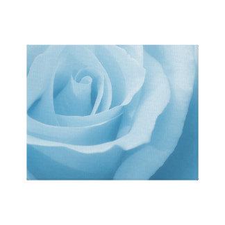Blaue Rosen-Blüte Leinwanddruck