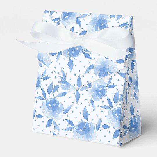 Blaue Rosen Geschenkschachtel