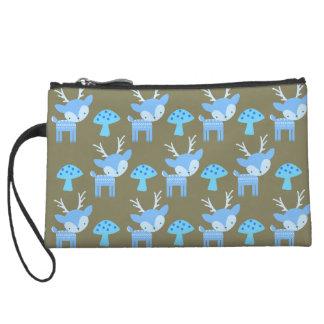 Blaue Rotwild-Tasche Kleine Clutch