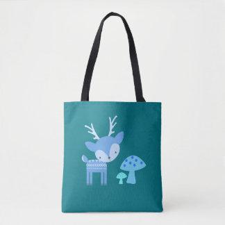 Blaue Rotwild-Taschen-Tasche Tasche