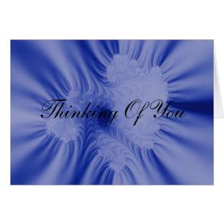 Blaue Rüschen Karte