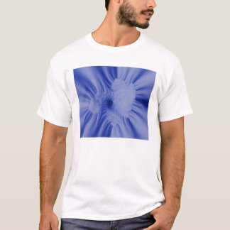 Blaue Rüschen T-Shirt