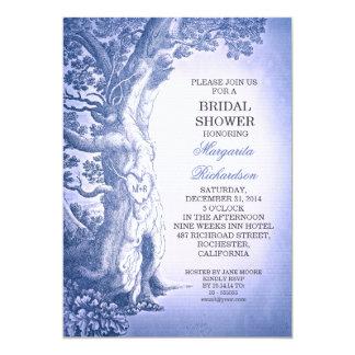 blaue rustikale Brautpartyeinladungen des Vintagen 12,7 X 17,8 Cm Einladungskarte