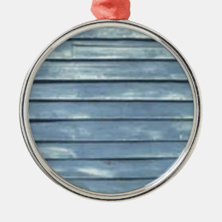 Blaue Schindel Silbernes Ornament