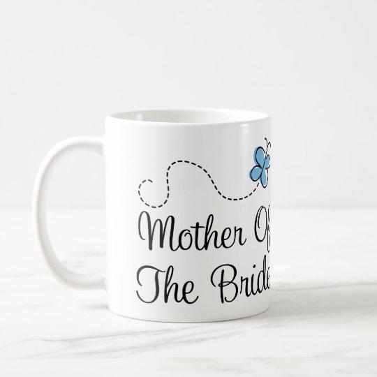 Blaue Schmetterlings-Hochzeits-Mutter der Kaffeetasse