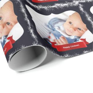 Blaue Schneeflocke-Baby-Foto-Geschenk-Verpackung Geschenkpapier