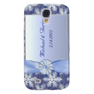 Blaue Schneeflocke-Kristallfeier Galaxy S4 Hülle