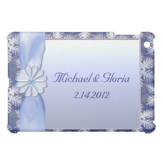 Blaue Schneeflocke-Kristallfeier iPad Mini Cover
