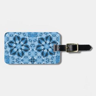 Blaue Schneeflocken Gepäckanhänger
