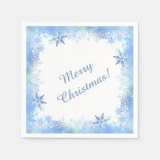 Blaue Schneeflocken Papierserviette