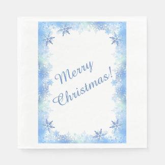 Blaue Schneeflocken Serviette