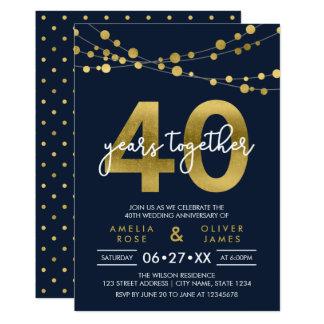 40 hochzeitstag einladungen | zazzle.ch, Einladungen