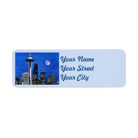 Blaue Seattle-Skyline