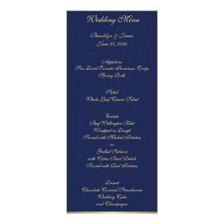 Blaue Seehochzeits-Menü-Karten Werbekarte
