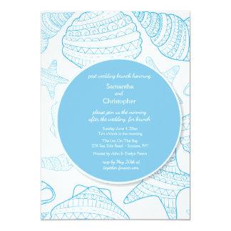 Blaue SeeMuschel-Einladung 12,7 X 17,8 Cm Einladungskarte