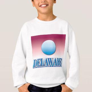 Blaue Sonnenuntergang-Spritzpistole Delawares Sweatshirt