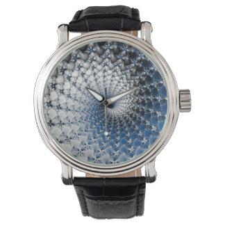 Blaue Spirale Uhr