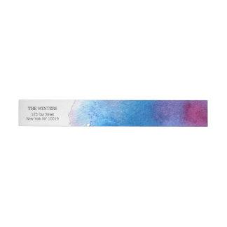 Blaue Spritzen-Aquarell-Hochzeit Adressband