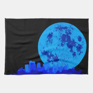 Blaue Stadt Geschirrtuch