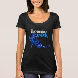 Blaue städtische Katze und Maus ganz vorbei - T-Shirt