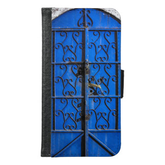 Blaue Stahltür rustikales Vintages Dschidda Samsung Galaxy S6 Geldbeutel Hülle