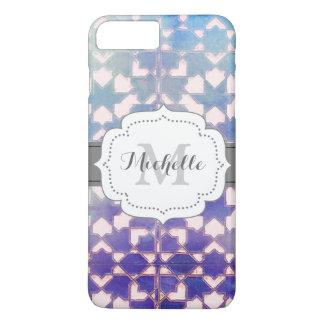Blaue Steigungs-dekoratives Fliesen-Muster iPhone 7 Plus Hülle