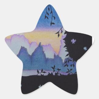 Blaue Stern-Aufkleber