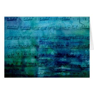 Blaue Stimmungs-Musik Grußkarte