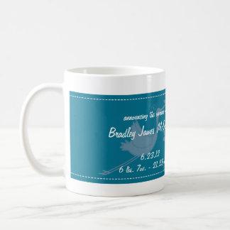 Blaue Storch-Baby-Foto-Collagen-Tasse Tasse