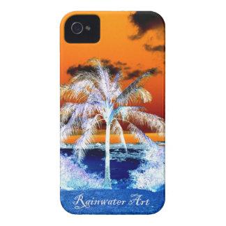 Blaue Strandpalme Hawaii iPhone 4 Case-Mate Hülle