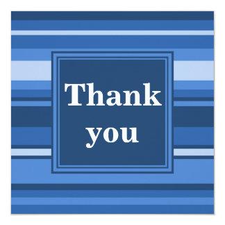 Blaue Streifen danken Ihnen zu kardieren Quadratische 13,3 Cm Einladungskarte