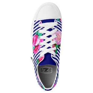 Blaue Streifen und Rosenschuhe Niedrig-geschnittene Sneaker