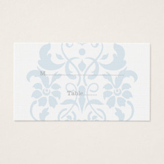 Blaue subtile Damast-Hochzeits-Platzkarten Visitenkarte