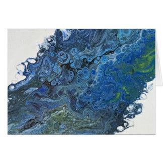 Blaue Tiefen Karte