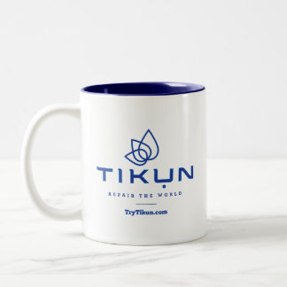 Blaue Tikun Kaffee-Tasse Zweifarbige Tasse