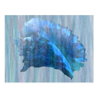 Blaue Tritonshornseashell-Kunst Postkarte