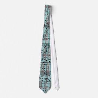 Blaue Trompete u. Musiknoten Personalisierte Krawatten