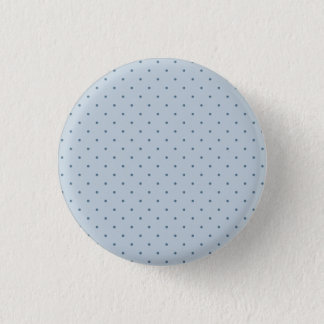 Blaue Tupfen auf hellerem Blau Runder Button 3,2 Cm