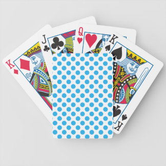 Blaue Tupfen Bicycle Spielkarten
