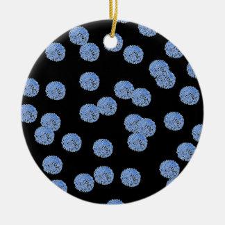 Blaue Tupfen-Kreis-Verzierung Rundes Keramik Ornament