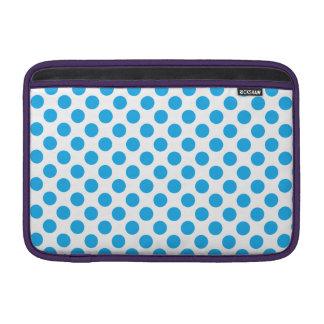 Blaue Tupfen MacBook Sleeve