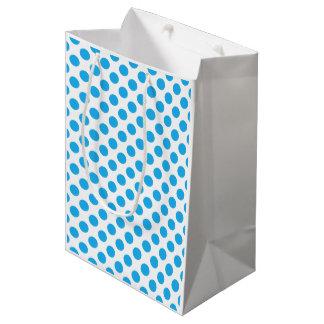 Blaue Tupfen Mittlere Geschenktüte