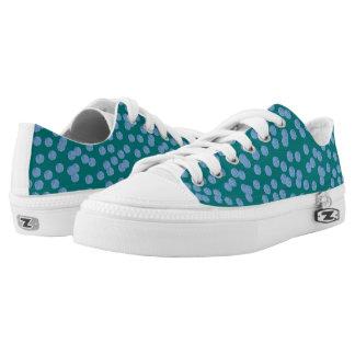 Blaue Tupfen-niedrige Spitzenschuhe Niedrig-geschnittene Sneaker
