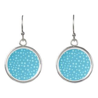 Blaue Tupfen Ohrringe