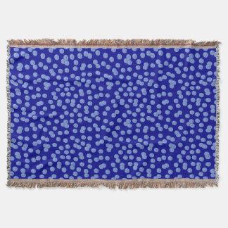 Blaue Tupfen-Wurfs-Decke Decke